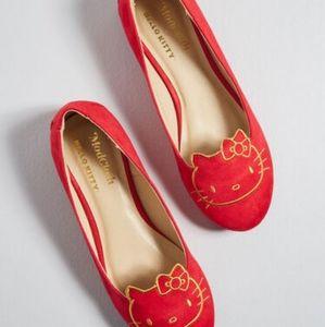 NWT Hello Kitty x Modcloth red flats